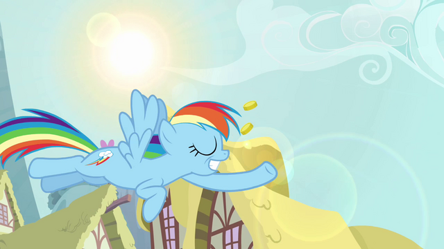 File:Rainbow Dash with bits in her hoof S3e06.png