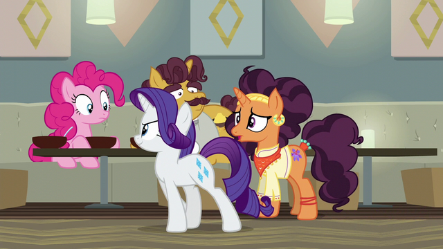 "File:Saffron Masala ""nopony will even try our food!"" S6E12.png"