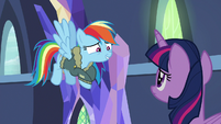 "Rainbow Dash ""please say here"" S6E24"