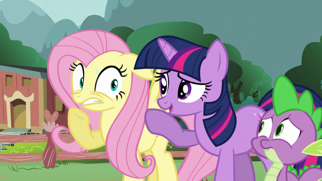 File:Fluttershy worries for her woodland friends S3E05.png