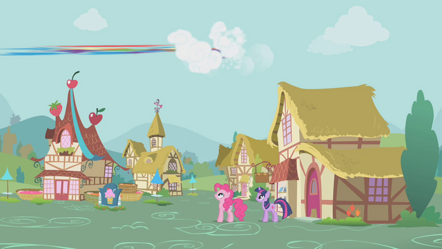 File:Rainbow Dash flies away from the square S1E05.png