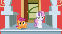Scootaloo and Sweetie Belle sad S02E23