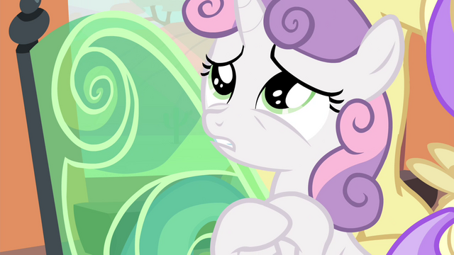 "File:Sweetie Belle ""save my sister from a horrible future"" S4E19.png"