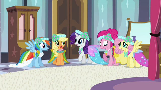 File:Main 5 ponies all dressed up S2E25.png