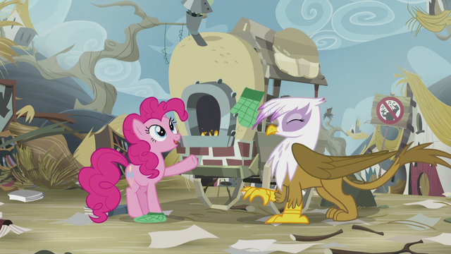 File:Pinkie accidentally hits Gilda by throwing her glove S5E8.png