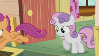 Scootaloo chases after Diamond Tiara S5E18