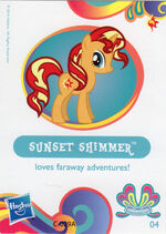 Wave 11 Sunset Shimmer collector card