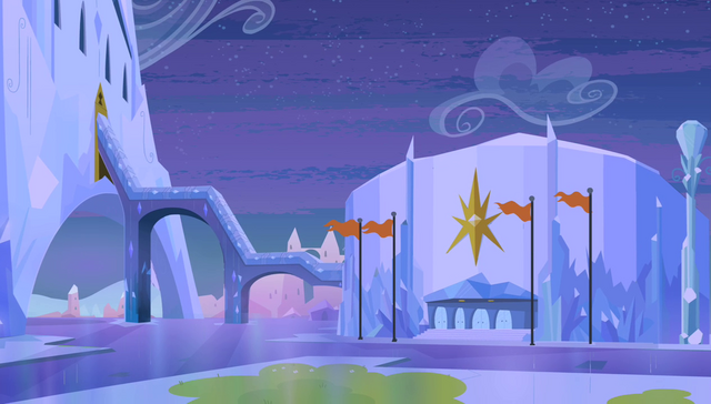 File:Equestria Games stadium exterior at night S4E24.png