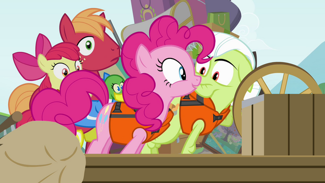 "File:Pinkie Pie ""tell us more!"" S4E09.png"