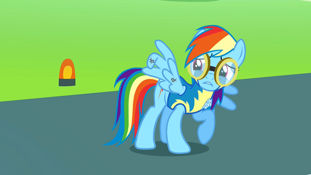 File:Rainbow Dash's injured wing S3E7.png