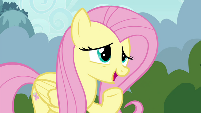 "File:Fluttershy suggests ""a special Breezie cheer"" S4E16.png"
