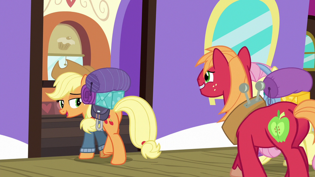 """File:Applejack """"somepony's in an awful quick hurry"""" S6E17.png"""