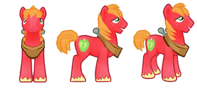 My little pony mobile game Big Mac Model