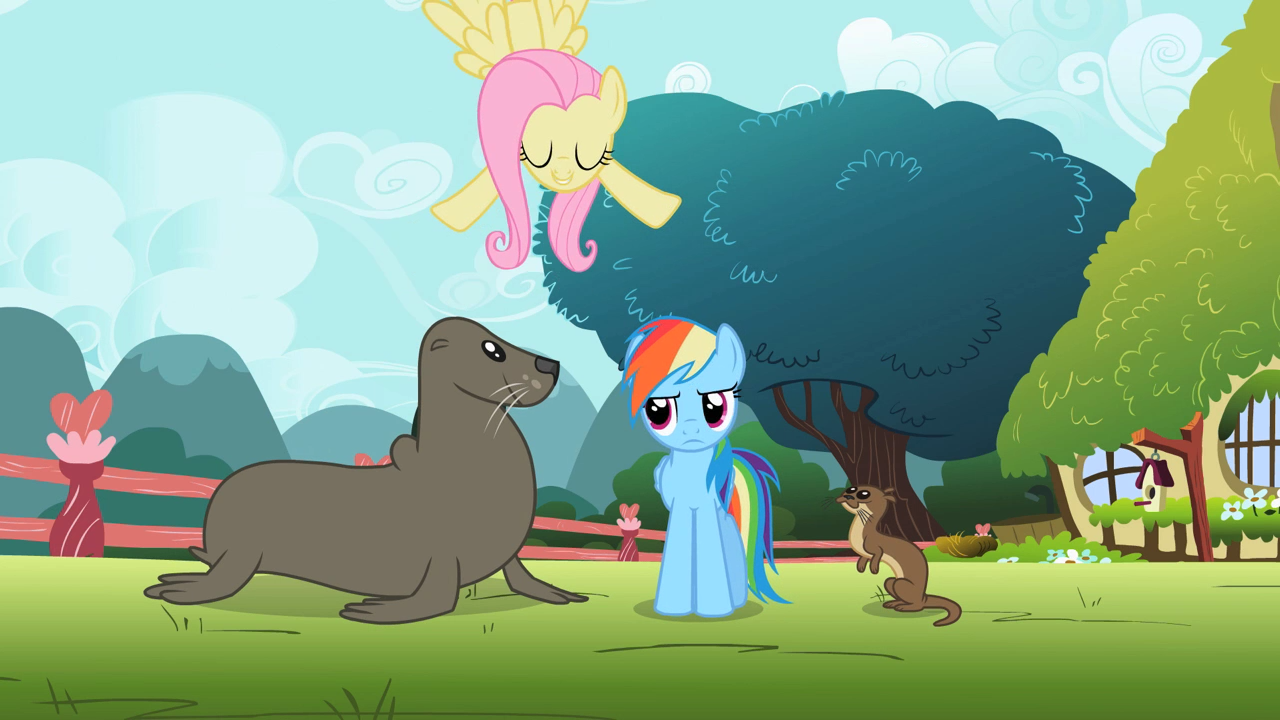 File:Rainbow Dash with animals S2E7.png