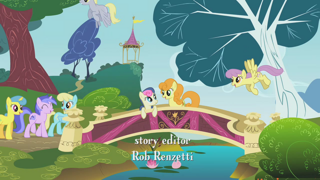 File:Sweetie Drops and Lyra hanging out by the bridge S1E07.png