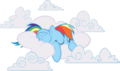 AiP Rainbow Dash sleeping in clouds.png