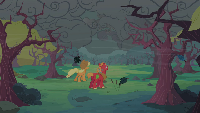 File:Applejack and Big McIntosh looking at dark clouds S2E12.png