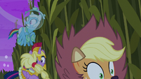 Applejack falls down a hole S5E21