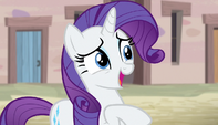 Rarity stammering nervously S5E1
