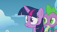 Twilight surprised by her own outburst S5E25