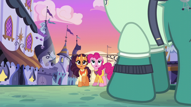 File:Pinkie and Saffron watch sign sail through the air S6E12.png