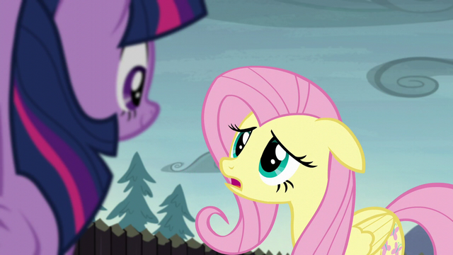 """File:Fluttershy """"if we solved the problem already"""" S5E23.png"""