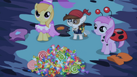 Ponies offering candies for Princess Luna S02E04