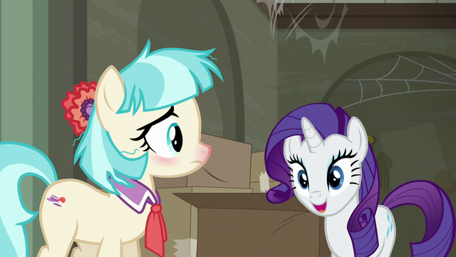 File:Rarity pleased to see Coco Pommel S6E9.png