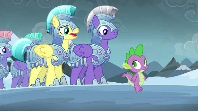 "File:Royal guard 1 ""faced the evil changelings before"" S6E16.png"