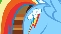 Rainbow Dash shows her cutie mark S01E23