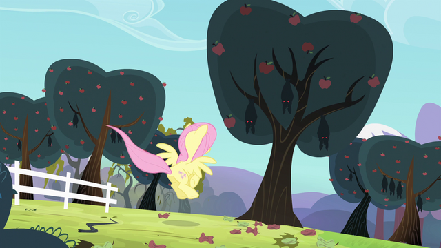 File:Fluttershy landing in front of a tree S4E7.png
