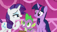 "Rarity ""we were at Sweet Apple Acres and"" S5E22"
