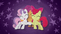 Cutie Mark Crusaders hugging warmly BFHHS4