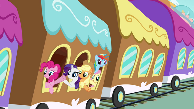File:Everypony waving to Twilight S4E01.png