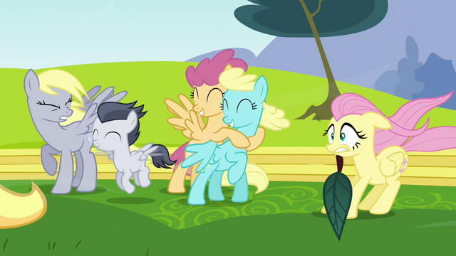 File:Pegasi blown by Rainbow Dash's wingpower S2E22.png