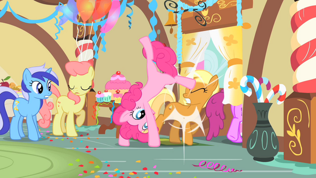 File:Pinkie Pie Cartwheeling her way out S1E22.png