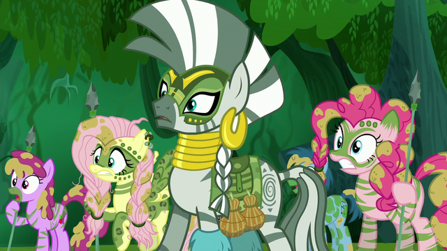 File:Zecora and ponies shocked S5E26.png