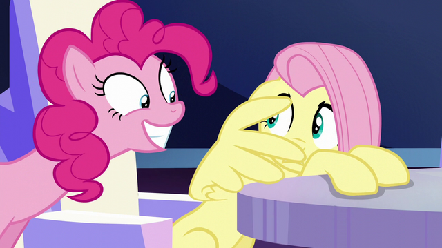File:Fluttershy cowers away from Pinkie S6E1.png