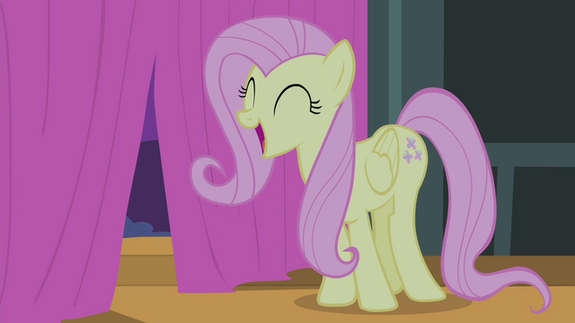 File:Fluttershy sings 'Something's in the air today' S4E14.png