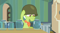 Granny Smith inspecting jars 2 S2E12
