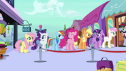 Main six and Twinkleshine about to board the train S03E11