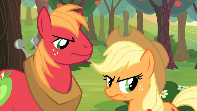 File:Applejack and Big McIntosh angry S2E23.png