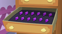 Rarity's gem drawer S5E3
