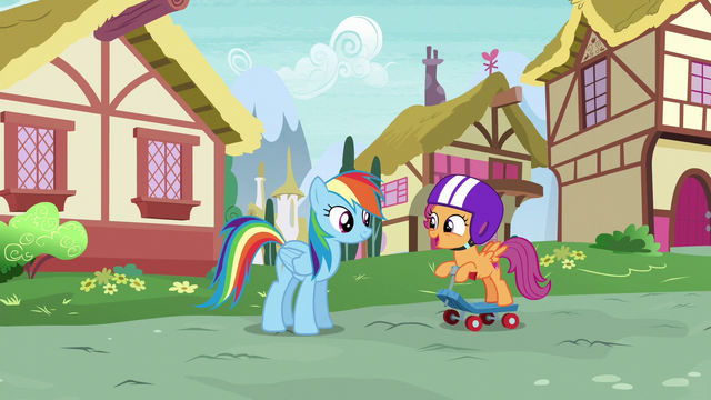 "File:Scootaloo ""the Rainbow Dash Fan Club just decided"" S6E7.png"