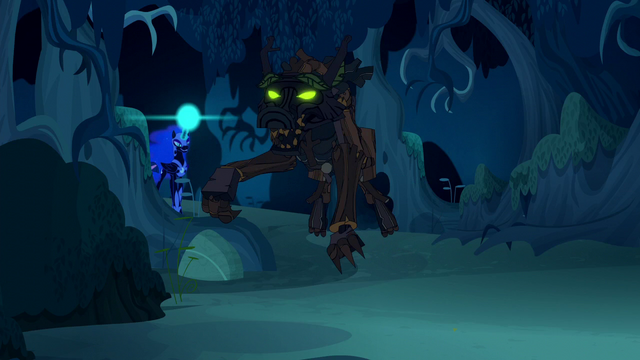 File:Nightmare Moon about to zap timberwolf S5E26.png
