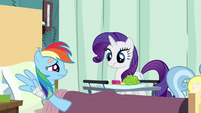 Rarity eating that S2E16