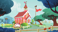 The schoolhouse in Ponyville S1E12