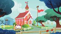 The schoolhouse in Ponyville S1E12
