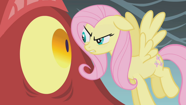 File:Fluttershy looks at the dragon in the eye S1E07.png