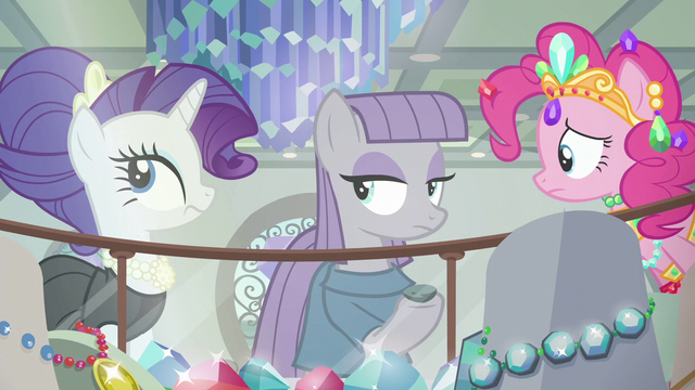 File:Pinkie frustrated; Rarity rolls her eyes S6E3.png